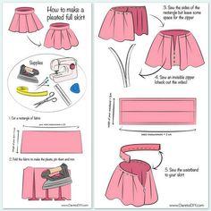 Принцип пошива юбки в складку