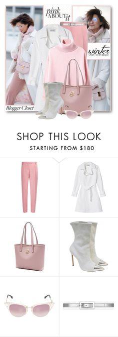 """Winter Pink & White"" by brendariley-1 ❤ liked on Polyvore featuring Valentino, Walk of Shame, Michael Kors, Manolo Blahnik, Fendi, Yves Saint Laurent, Winter, pinkandwhite and galantgirl"