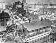 Heart of Retail Trade, New York City East Side, 1880 Poster Print (24 x 36)