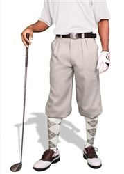 Taupe Microfiber Mens Par 3 Microfiber Golf Knickers by GolfKnickers.  Buy it @ ReadyGolf.com