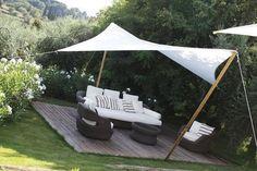 Auf der Suche nach Schatten im Garten? Diese 8 Schattentücher und Überdachungen sehen einfach FANTASTISCH aus. - DIY Bastelideen