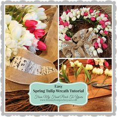 Tulip Wreath Tutorial- From My Front Porch To Yours