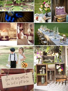 outdoor country vintage, if I were to be able to do my wedding over this is exactly how I would do it!!!!!