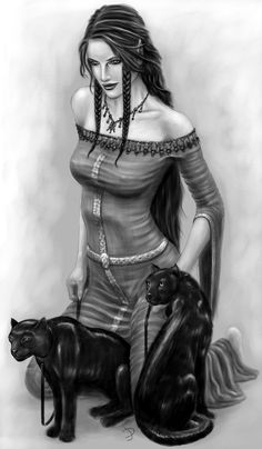 Hello, I'm Kyrie, daughter of Freya, the Norse goddess of love, remembrance, and beauty. I inherited my mother's looks, and I too have a feline-drawn chariot. I am a great singer, humble, fierce, nature loving, loyal, responsible, smart, sweet, honest, and friendly if you don't mess with me. If you do, well...I don't carry swords for nothing.