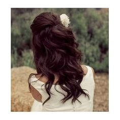 brown curls half updo. if only my hair was this long