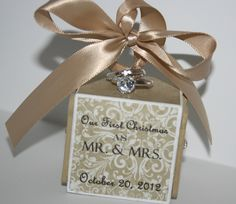 Our First Christmas Ornament - Our First Married Christmas Ornament - Wedding Ornament - Just Married Ornament. $14.00, via Etsy.