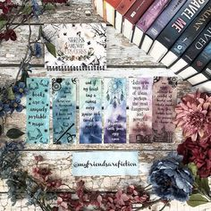 It has been a bit since I did some colorful pictures so I thought I would. This is part of my @strangethebookmarkshop collection! So pretty right? You can use MFAF10 to save! The print is from the reading planner that was in the last @shelflovecrate Backdrop is @peekprints #strangethebookmarkshop #bookmarks #myfriendsarefiction #rainbowbooks #bookgram