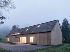austrian contemporary barn by bernardo bader architects.