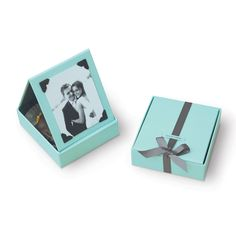 Blue Favor Box with Drawer - Set of 10