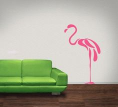 vinyl wall flamingo. maybe for the guest room.
