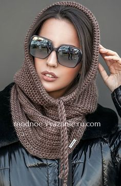 Best 12 Arctic Chill II Hat and Double Cowl Two Patterns Crochet Hooded Scarf, Knit Cowl, Crochet Beanie, Knit Crochet, Crochet Hats, Crochet Motifs, Hoodie Pattern, Knitted Gloves, Crochet Accessories