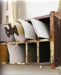 I'd love these pigeon holes in my studio