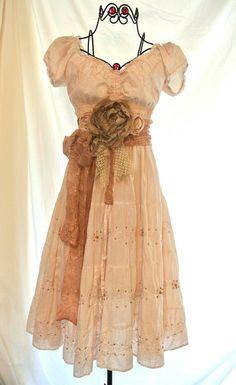 Prairie girl slip dress Country chic sundress by TrueRebelClothing, $74.00
