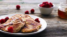 Yeo Valley's Raspberry breakfast pancakes Recipe