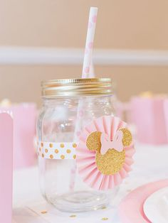 Pink & Gold Minnie Mouse Party Designed by Lysi of www.thelysilife.com