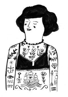 illustratedladies:Lizzy Stewart: