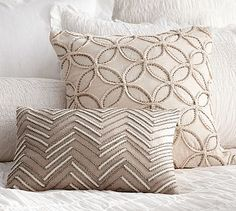 "Embellished Beaded Pillow Covers #potterybarn 12"" x 16"" envelope closure pillow form sold separately"