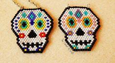 Welcome to the Cozy Corner of Craft: Sugar Skull Brick Stitch Pattern