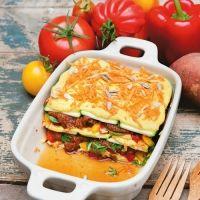 Lasagne mit Zucchini und Süßkartoffeln - roh
