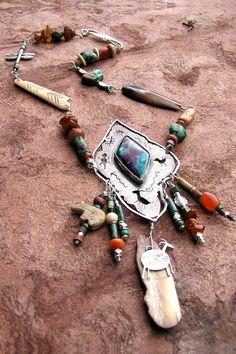 Patricia Reinking - Textured silver pendant with petroglyph designs 6c103a58da8cf