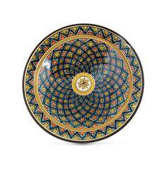 Cargo Lane - Moroccan Ceramic Bowl Blue 33cm, $95.00 (http://www.cargolane.com.au/moroccan-ceramic-bowl-blue-33cm/)