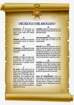 Decálogo del Abogado.