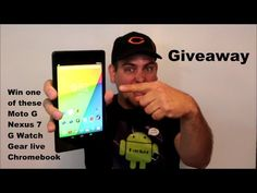 Huge Android Giveaway Gear Live & LG G Watches, Moto G, Chromebook, &  Nexus 7