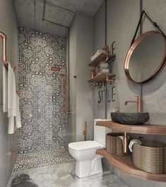 Bathroom Design Small, Bathroom Interior Design, Modern Bathroom, Bathroom Ideas, Bathroom Grey, Small Bathrooms, Bath Design, Bathroom Organization, Boho Bathroom