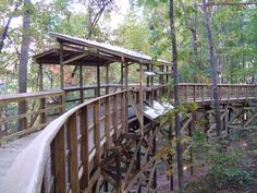 Nature Bridges built this 25 foot high elevated boardwalk using our top-down construction method and the tree top observation deck at Alabama Nature Center.