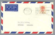 Classic airmail envelope