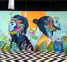Graffiti Art, Murals Street Art, Art Inspo, Kunst Inspo, Inspiration Art, Mural Painting, Mural Art, Wall Murals, Psychedelic Art