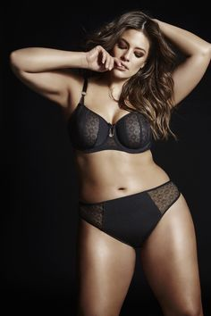Ashley Graham FATAL ATTRACTION UNLINED BALCONET BRA. Send sexy signals with this opaque, yet suggestive unlined underwire bra.