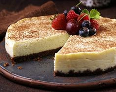 Mary Berry uses Divine chocolate to make this superbly rich cheesecake made to be served in very thin slices.