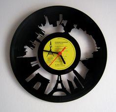 Horloge vinyle Paris More At FOSTERGINGER @ Pinterest