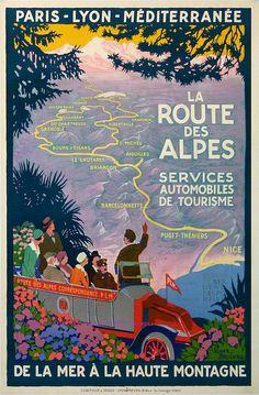 Roger Broders Train Plm La Route Des Alpes 76X105 Lucien Serre by estampemoderne.fr, via Flickr