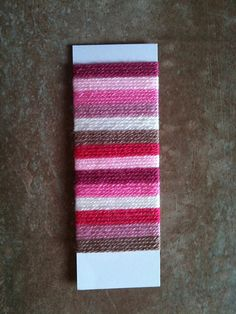 Tip :: From GingerbreadGirl's Vintage Stripes blanket ~ a great way to visualize & play with color before starting a project is to wrap all your colors around a slim piece of scrap cardboard.  You can change the order & width of the stripes very easily this way  :-)   #crochet