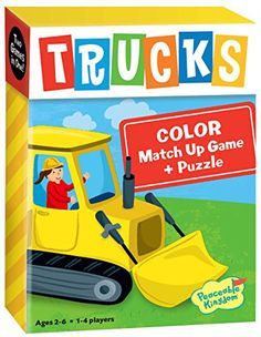 Peaceable Kingdom Trucks Color Match Up Memory Game and Floor Puzzle ** You can get more details by clicking on the image. Note:It is Affiliate Link to Amazon.