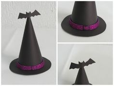 DIY - Chapeu de bruxa - YouTube Halloween Hair, Halloween Food For Party, Diy Carnaval, Costumes, Hair Styles, Creative, Kids, Crafts, Gabriel
