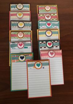 Fridge Magnet Notepads - Stampin Up - Just Spiffing by Fiona Bradley