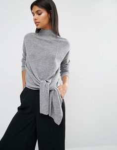 Whistles | Whistles Tie Side Rib Sweater