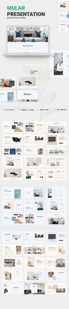 Mular Presentation PPTX Creative Design, Web Design, Presentation, Designers, Photoshop, Graphics, Unique, Free, Graphic Design
