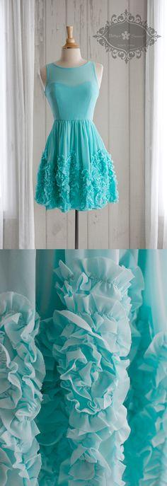 Bitter Sweet Jewellery. Spring Summer 2015. #fashionJewellery #gown #rufflesdresses #mint #blue #dress #turquoise