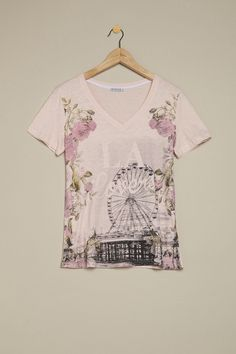 t-shirt v stampa fiori  Collection online