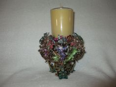 Retired  KIRKS FOLLY FANTASY CANDLE HOLDER   wizards/dragons/lizards & frogs NIB