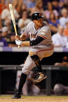 Hunter Pence Photos - Hunter Pence of the San Francisco Giants takes an at bat against the Colorado Rockies at Coors Field on August 2012 in Denver, Colorado. - San Francisco Giants v Colorado Rockies Giants Players, Mlb Players, Baseball Players, Baseball Uniforms, Baseball Cards, Dodgers, Hunter Pence, San Francisco Giants Baseball, My Giants