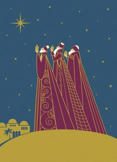 Starry Three Kings - Religious Christmas Card