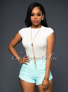 Chic Couture Online - Hannah Soft Aqua Destroyed Denim Mini Shorts.(http://www.chiccoutureonline.com/hannah-soft-aqua-destroyed-denim-mini-shorts/)