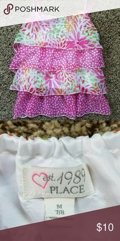Children's Place Layered Dress Tank Colorful, dressy girls' top, worn 1 time Children's Place Shirts & Tops Tank Tops