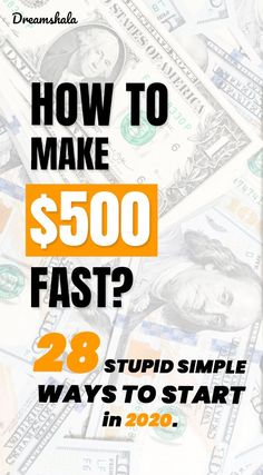 How To Make 500 Dollars Fast: 28 Smart And Proven Methods Make Easy Money, Ways To Save Money, Money Tips, Online Work From Home, Work From Home Tips, Earn Money From Home, Make Money Online, Online Side Jobs, Good Credit Score