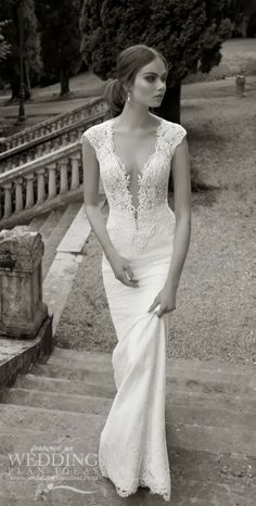 Beautiful Cap Sleeves Wedding Dress